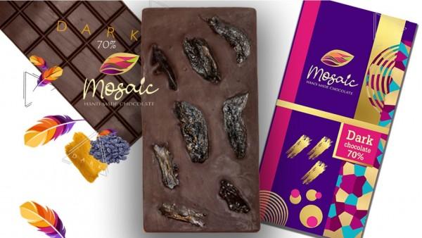 Մուգ Handmade շոկոլադ